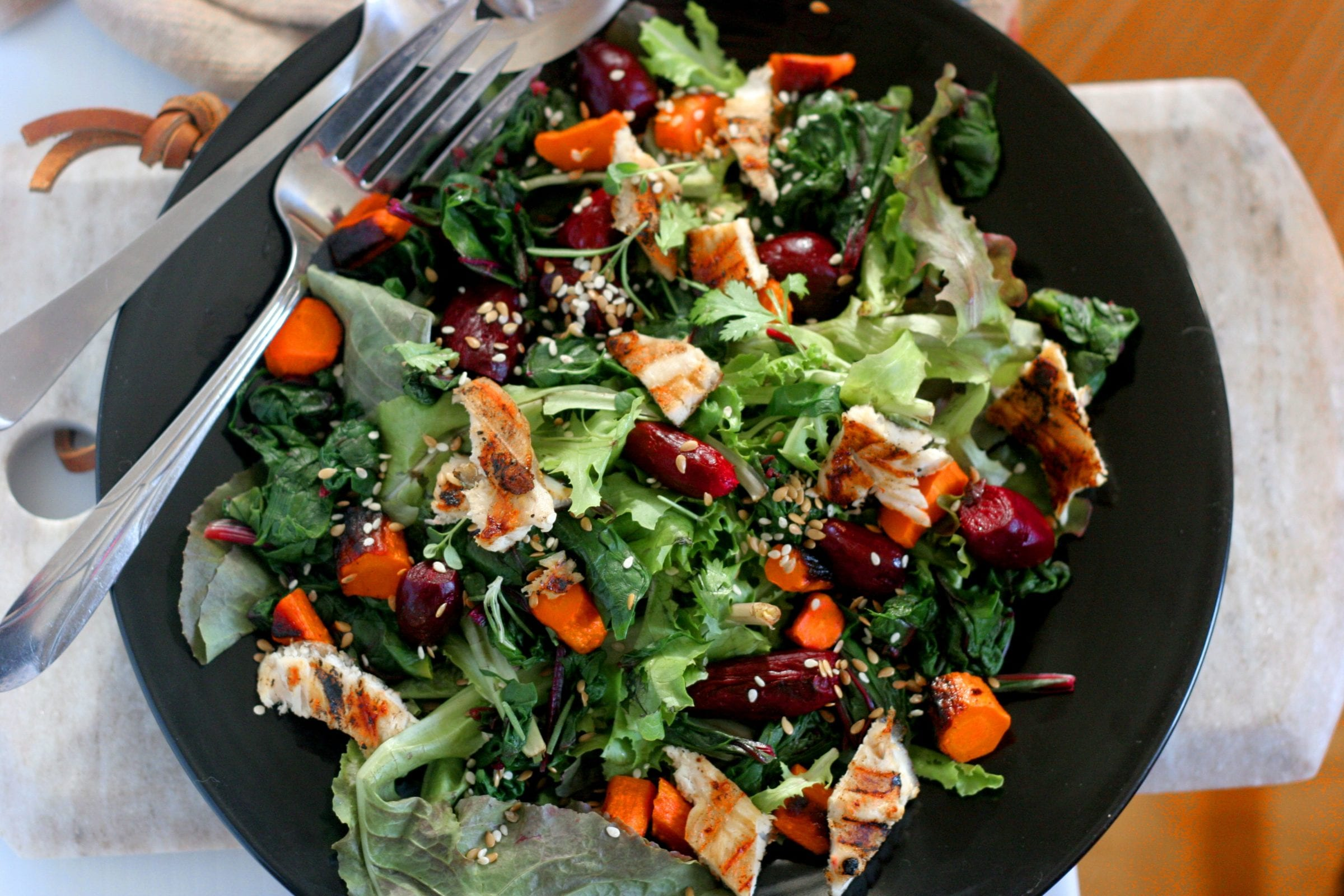 Roasted Beet and Carrot Salad with Herbs: To Boost Progesterone and Metabolize Estrogen