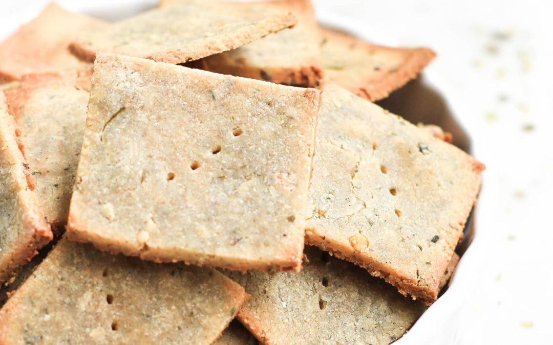 Herbed Quinoa Crackers
