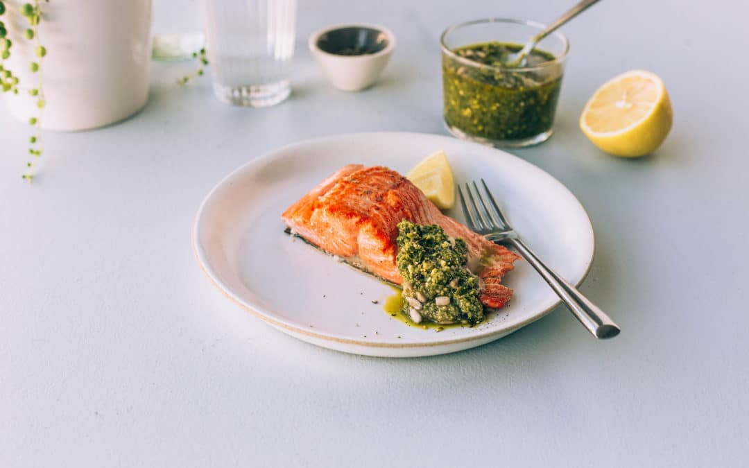 Salmon Fillet with Seed Rotation Pesto