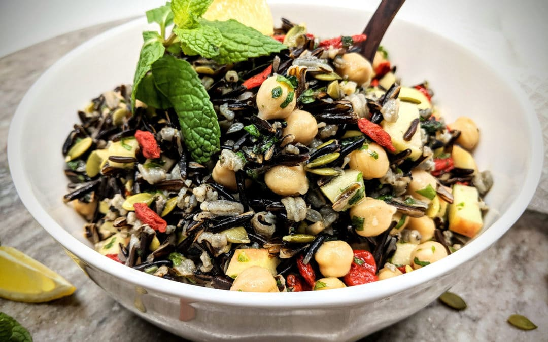 Prebiotic Rich Wild Rice Protein Salad