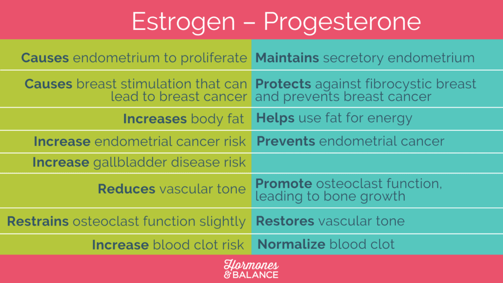 estrogen and progesterone