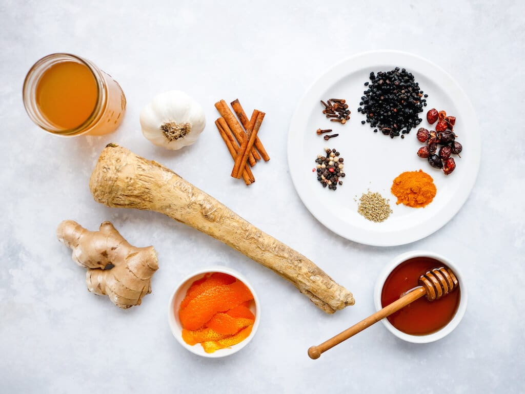 Immune Boosting Winter Syrup Ingredients