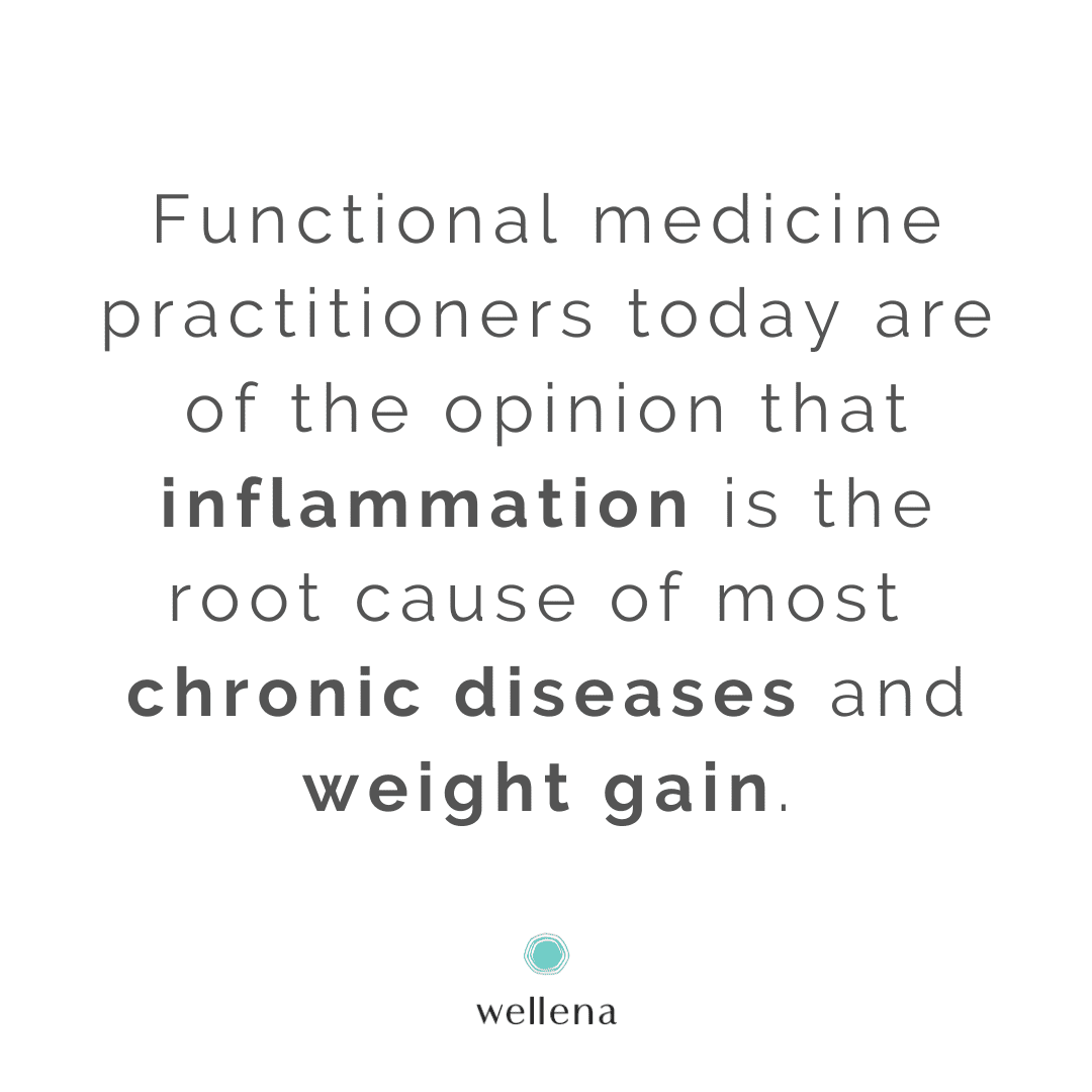 Inflammation as part of healing is a good thing. It's when it develops into chronic inflammation that there's a problem. The type of inflammation that causes weight gain is chronic, systemic (meaning: involves your whole body) and on a cellular level.