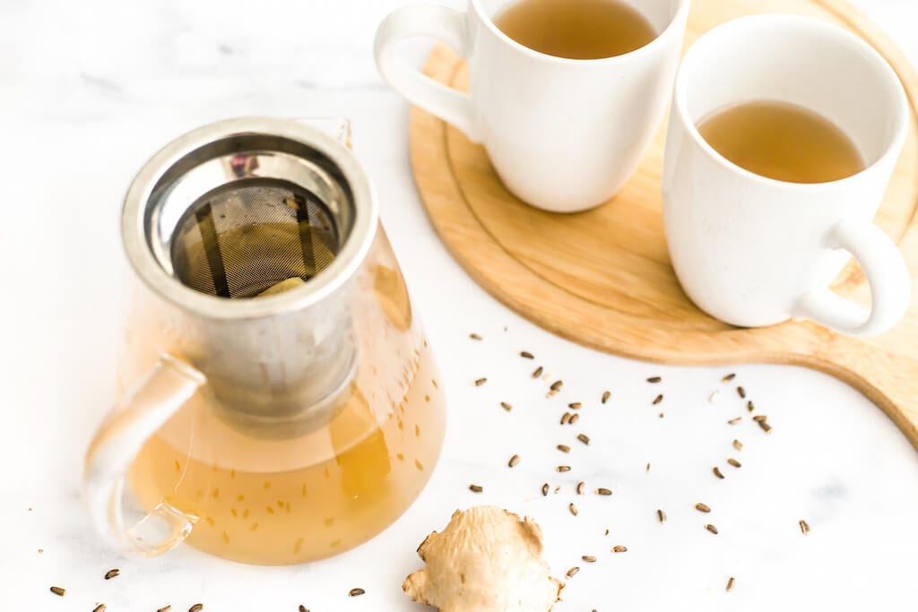 When the weather turns frigid, I turn to a large mug of this warming milk thistle ginger tea for comfort. It fights the cold and builds up my liver health and immune system at the same time.